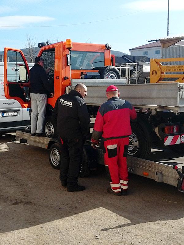 Prezentácia pracovného vozidla Zebra2